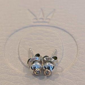 Rare authentic Pandora diamond stud earrings